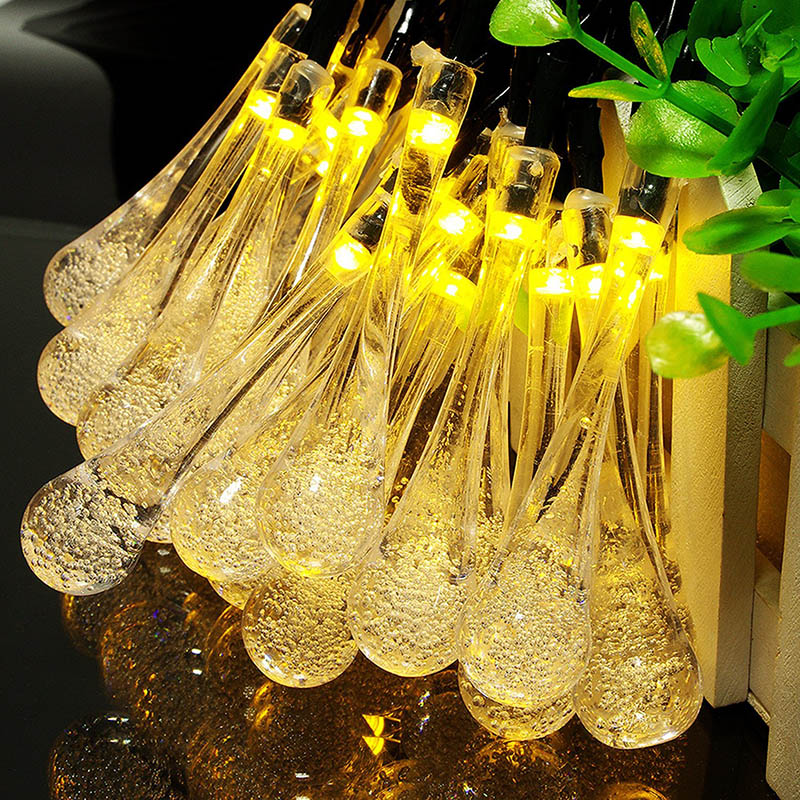 LED Christmas String Lights 1M 2M 3M 4M 5M 10M Waterproof Crystal Bubble Water Drop Home Garden Fence Bistro Party Holiday Light