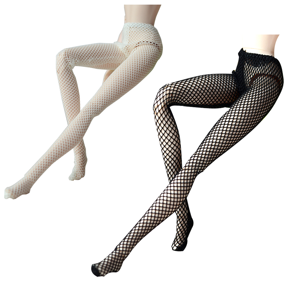 NK 2020 Two Dolls Sexy Stockings Lace Stockings Doll Accessories Fashion Low Socks Tights For Barbie Doll Girl Gifts 001A DZ
