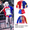 Harley Quinn Girls Kids Suicide Squad Cosplay Halloween Costumes Outfit Set Pennywise Children Gift Jacket Embroidery