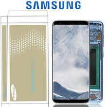 Original Burn-Shadow Replacment For Samsung Galaxy S8 G950F G950U LCD S8 Plus G955 G955F Display Screen Touch Digitizer Assembly cheap Capacitive Screen 2560x1440 3 AMOLED For Samsung Galaxy S8 G950F G950U S8 Plus G955 G955F LCD Touch Screen Digitizer