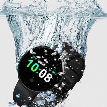 YEINDBOO умные часы Шагомер монитор сердечного ритма поддержка водостойкие Smartwatch для IOS Android Bluetooth умные часы