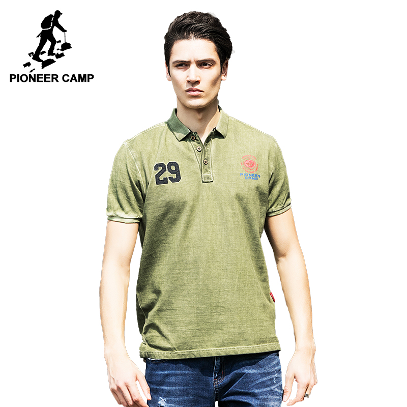 Pioneer Camp 2017 New arrival polo shirt men famous brand Army green male polo top quality 100% cotton polo men 655016