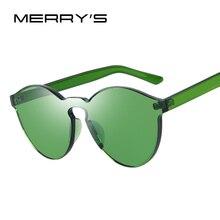 MERRY'S Модные Солнцезащитные Очки Женщины Cat Eye Оттенки Люксовый Бренд Дизайнер Солнцезащитные очки Integrated Очки Конфеты Цвет S'703