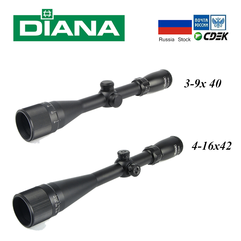 Tactical Riflescope DIANA 3 9X40 AO Hunting Scopes 4 16x42 AO Mil Dot Reticle Rifle Sights