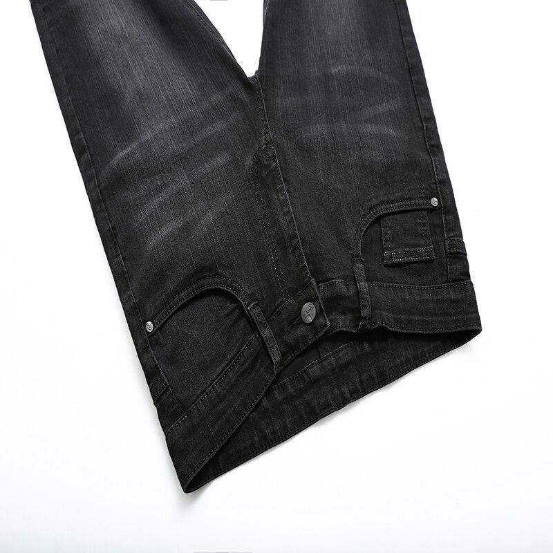 Trousers Male Cotton Lattice Straight Black Work Pant Men's Large Business Casual Male Denim Slim Pants Classic Style