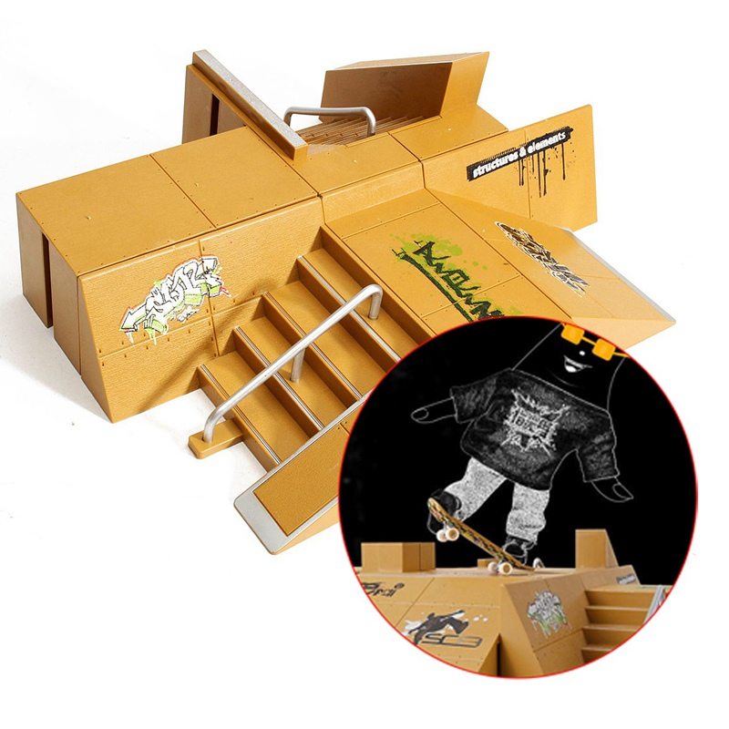 new arrival skate park ramp parts for tech deck fingerboard finger board ultimate parks 92b for. Black Bedroom Furniture Sets. Home Design Ideas