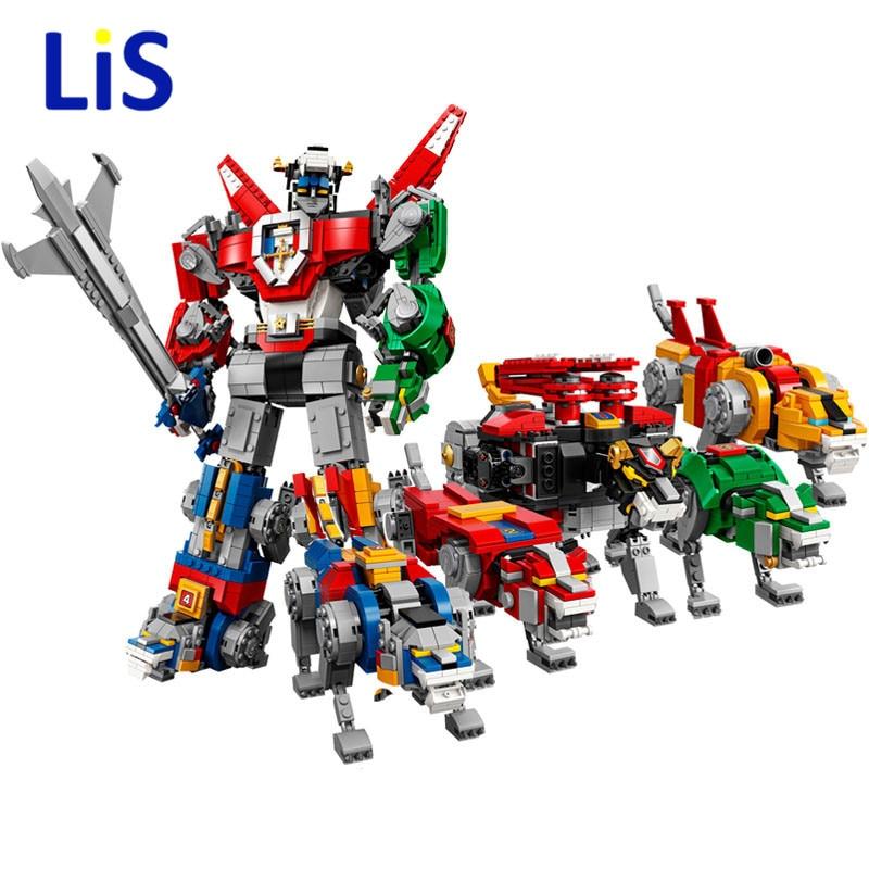 16057 2600Pcs Defender of the Universe Voltron Set Compatible Legoing 21311 Model Building Kits Blocks Bricks Toys For Children цена и фото