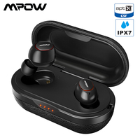 Mpow T5/M5 TWS Bluetooth 5.0 Earphone 3D Stereo Wireless Handsfree Earphones AptX Earbuds IPX7 Waterproof With 36 Hours Playtime