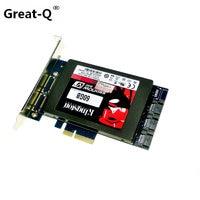 New X4 PCIe To 2 5 SATA 3 0 SATAIII RAID Card HyperDuo SATA Port Multiplier