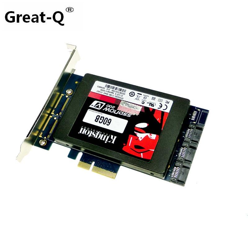 new x4 PCIe to 2.5 SATA 3.0 +SATAIII RAID Card HyperDuo SATA port multiplier 88SE9230 4 ports sata3 0 6gb pcie raid card 88se9230 chipset support raid 0 1 10 hyperduo