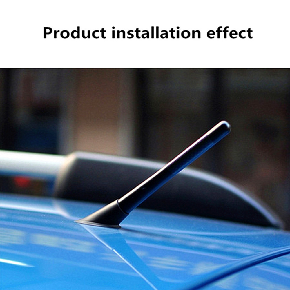 8cm Mini Car Antennas Universal Carbon Fiber FM Short Antenna Aerials For Ford Focus 2 3 Carbon Fiber Antenna Accessories