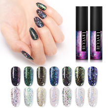 LILYCUTE 5ml Chameleon UV Gel Polish Transparent Flakes Glitter Sequins Natural Resin Soak Off Nail Art Varnish Design
