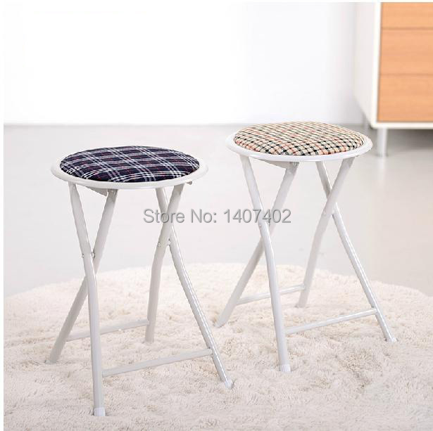 Metal Folding Stool Portable Stool Simple Small Bench Fashion Dining