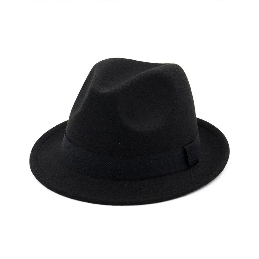 9ecfabf9c186a Vintage black felt top hat fedora hats women for men mens hat wool felt  fedora hats chapeau homme feutre fascinator sombrero -in Fedoras from  Apparel ...