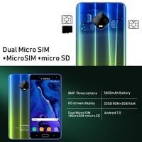 "cell phone screen TEENO Vmobile J7 Mobile Phone Android 7.0 5.5"" HD Screen 3GB+32GB Dual SIM Card 4G celular Smartphone unlocked Cell Phones (4)"