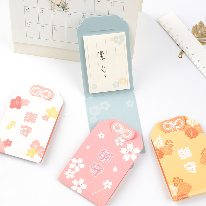 Japanese Kawaii Sticky Notes 30 Sheets Creative Student Retro Message Notes Paste N Times Stickers Mini Memo Pads Children Gifts