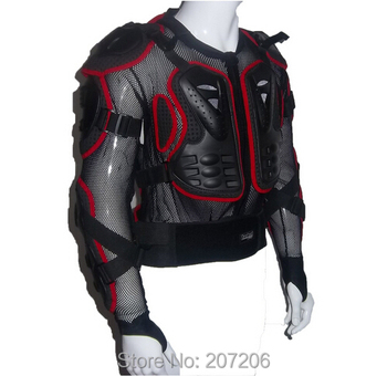 Motorcycle Full Body Armor Jacket motocross protector Spine Chest Protection Gear~ M L XL XXL