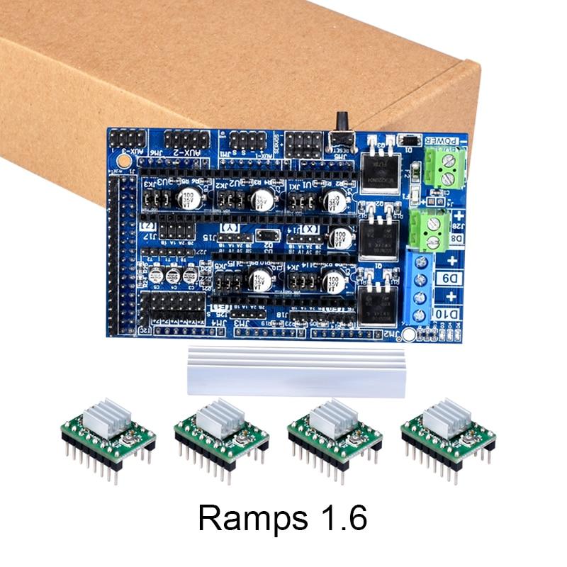 3D parti Della Stampante Rampe 1.6 scheda di aggiornamento di base su Rampe 1.4 1.5 Scheda di Controllo 4 strati PCB TMC2130 Drv8825 A4988 driver