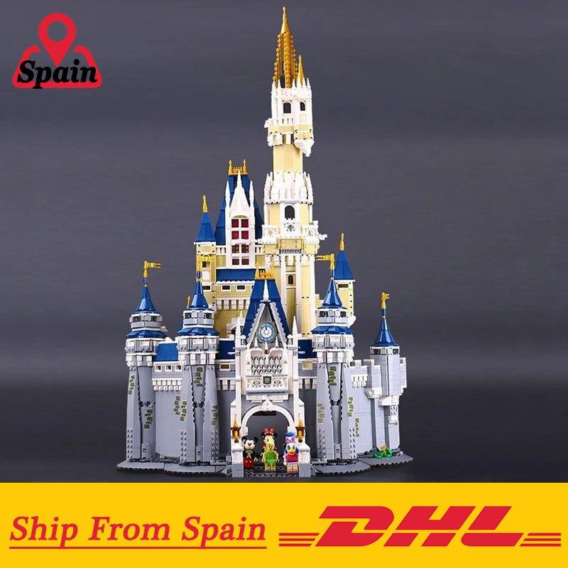 16008 Cinderella Princess ปราสาทเมืองชุดอาคารบล็อกเด็กของเล่น DIY ตลกวันเกิดใช้งานร่วมกับ Legoingly 71040-ใน บล็อก จาก ของเล่นและงานอดิเรก บน   1