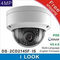 Frete grátis DS-2CD2145F-IS substituir DS-2CD2135F-IS & DS-2CD2132F-IS 4Mp Câmera Dome IP CCTV POE Áudio Alarme H265