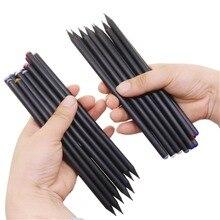 10 adet HB elmas renkli kurşun kalem siyah dolum kırtasiye malzemeleri çizim malzemeleri sevimli ahşap kalem toptan