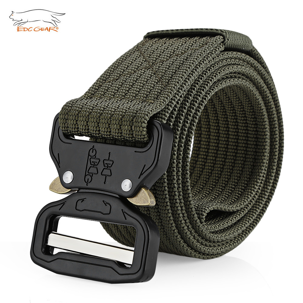 EDCGEAR Military Tactical Belt Mens Heavy Duty Army Combat Nylon Belts Strap Survival Waist Belt with Quick Release Buckle 12000 lumens flashlight super bright torch 12 x xml t6 led hunting fishing lamp for biking camping home repairing