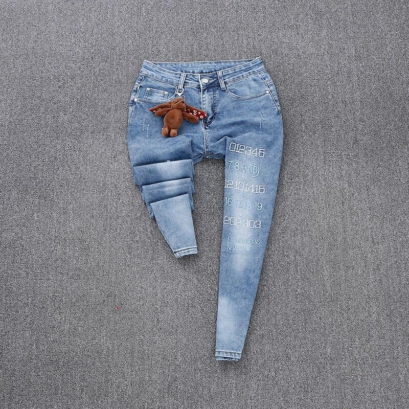 Chaqueta Las Mujeres De Dos Europea Dibujos Primavera Moda Animados Traje Impresión Damas Jeans Letras 2019 Piezas Coreano Nuevas dpqxBnwd7