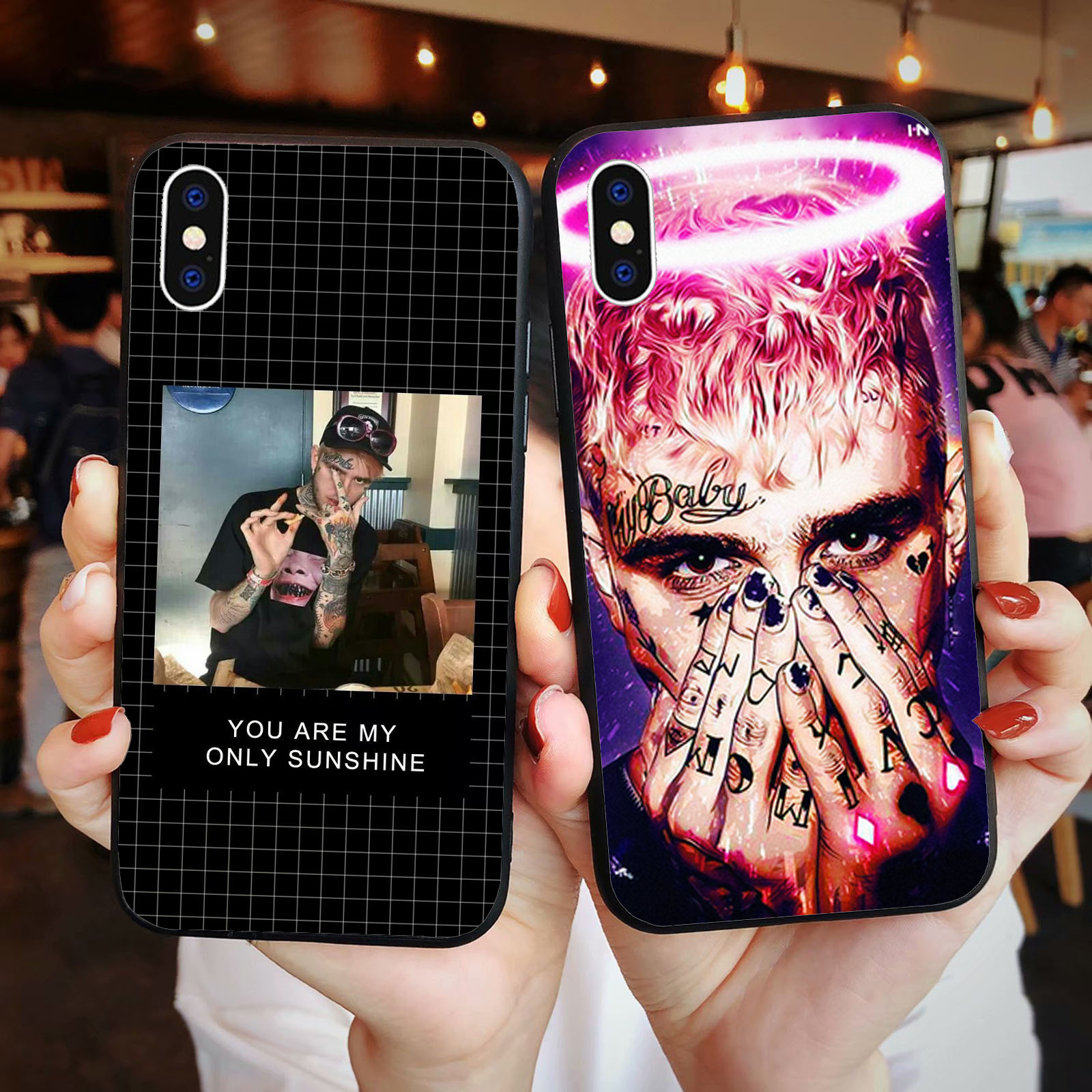 Fashion <font><b>Lil</b></font> <font><b>Peep</b></font> hellboy Life is Beautiful Cry Baby Soft TPU Cover Phone <font><b>Case</b></font> for <font><b>iPhone</b></font> X 5 5S 6S 11 PRO MAX <font><b>8</b></font> Plus XR XS MAX image