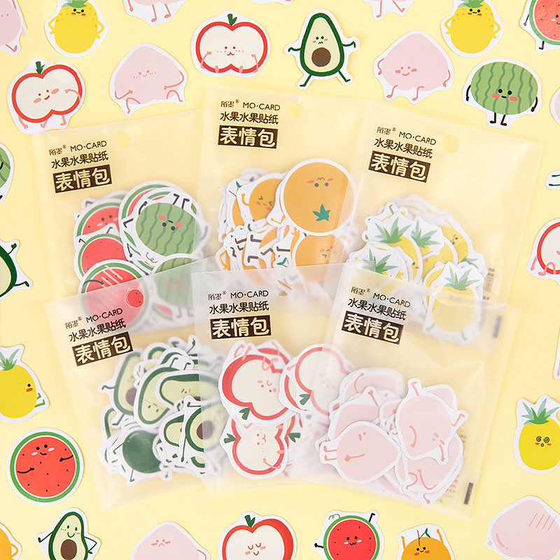 Mohamm Love Fruit Series Kawaii Cute Sticker Custom Stickers Diary Stationary Flakes Scrapbook DIY Decorative Stickers