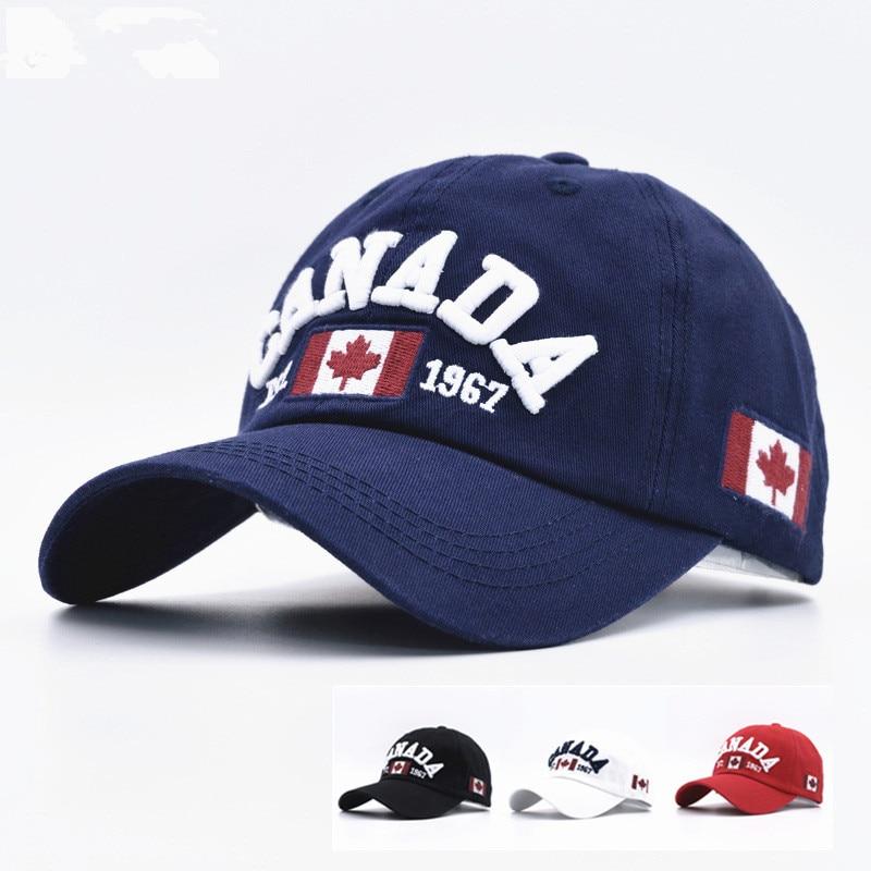 c620fbc39b705 جديد وصول القطن gorras كندا بيسبول علم كندا رجالي البيسبول قبعات قبعة  snapback adjuatable جديد للرجال النساء