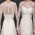 Hot Sale Bolero For Prom Bridal Dresses Full Long Sleeves Bridal Wraps Dots Tulle Lace Applique Bridal Evening Jacket  J23