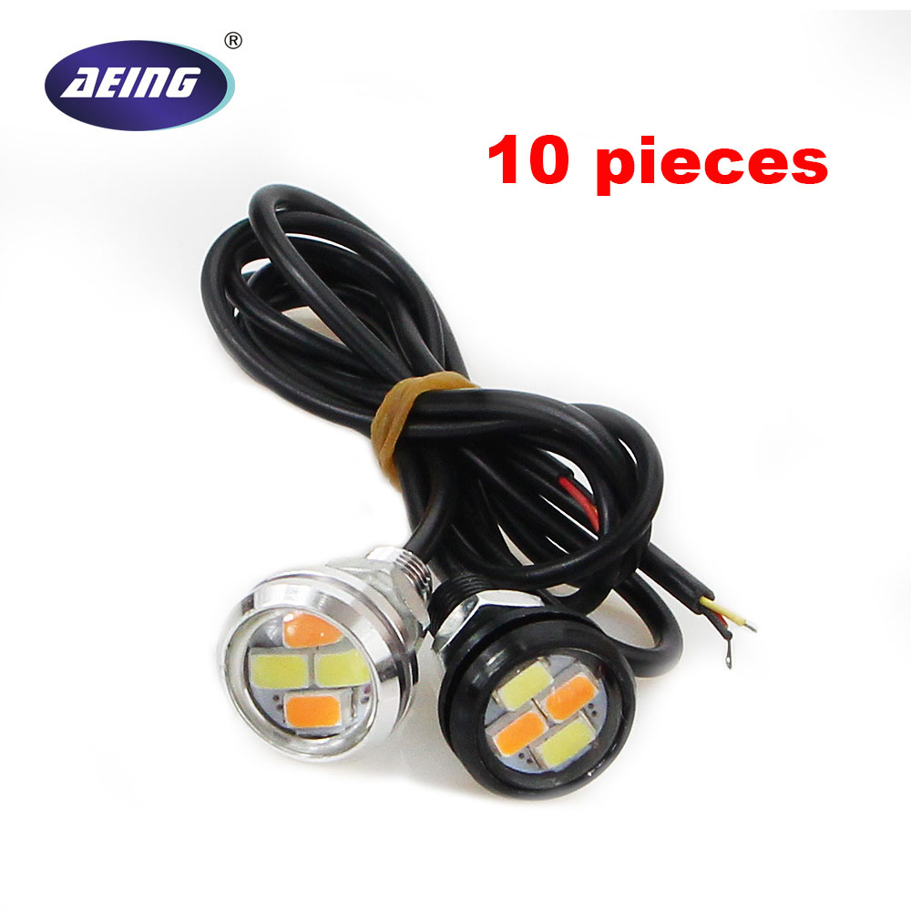 AEING 10gab 12V 4SMD 23MM Divkrāsu pārslēgšana Ksenona baltais - Auto lukturi