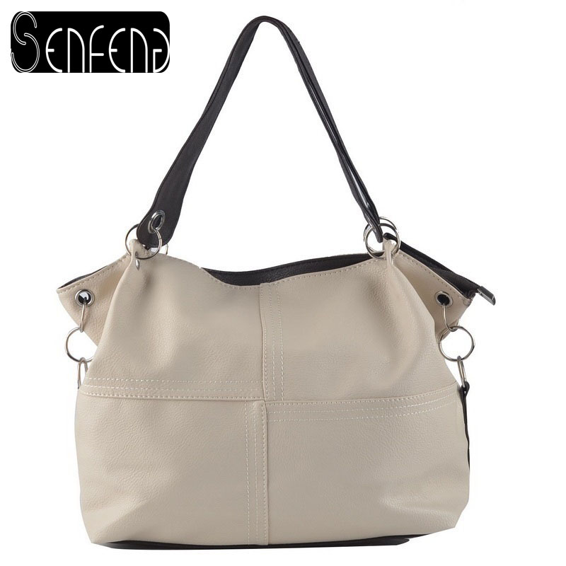 HOT!!!! Women Handbag Special Offer PU Leather bags women messenger bag/ Splice