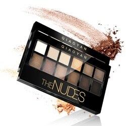 12 видов цветов матовые тени для век набор для макияжа Nudes Nake Pallete тени для век Палитра косметический набор для макияжа телесные тени для век ...