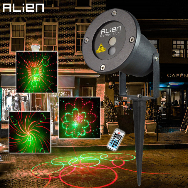 20 Patterns Rg Lighting Projector Outdoor Indoor Laser Light Show Outside Garden Home Christmas