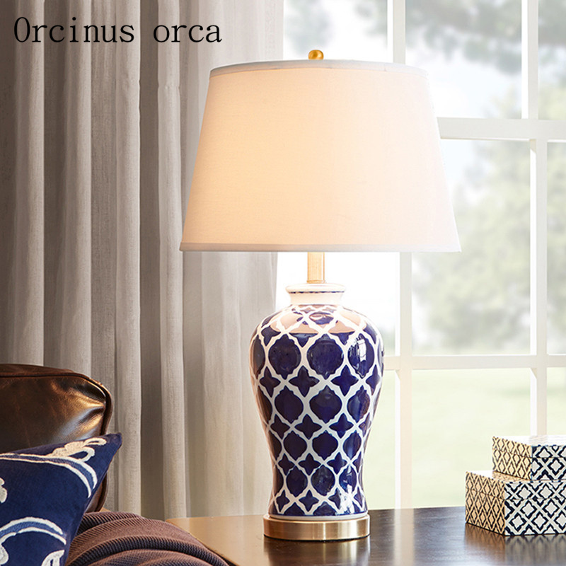 American Pastoral creative birds table lamps living room bedroom bedside lamp concise modern warm color table lamp