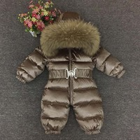 Russian Winter 30 Degree Baby Rompers Winter Thick Boys Costume Girls Warm Snowsuit Kid Jumpsuit Kids Outerwear Baby Wear