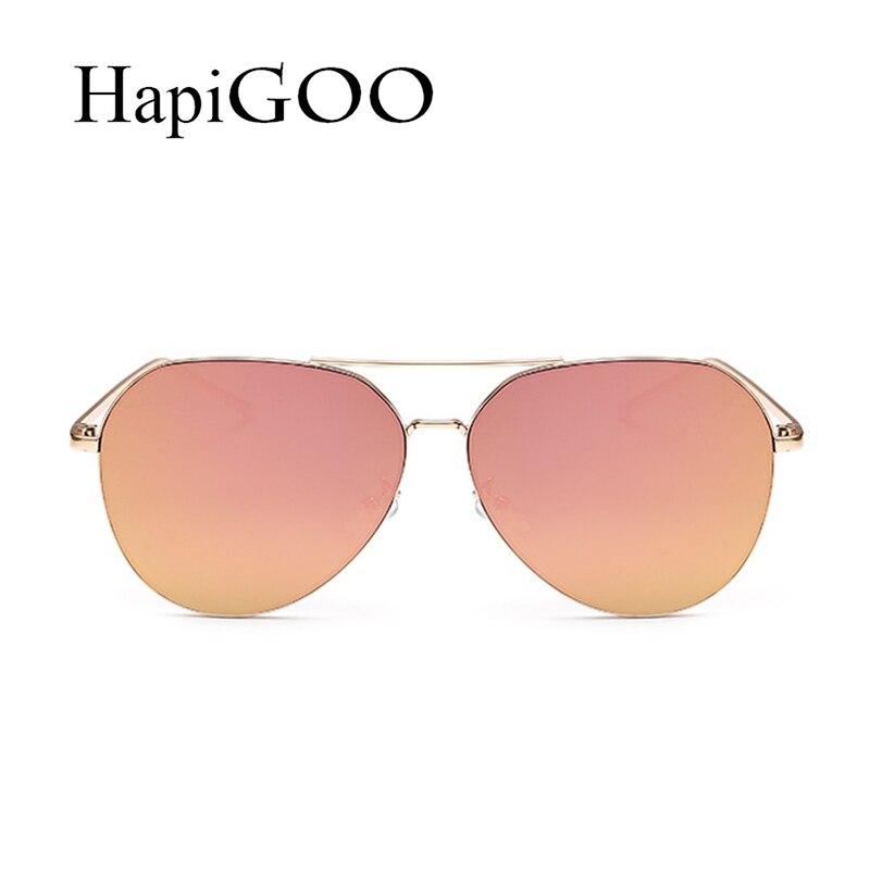 Hapigoo 2017 new fashion designer brand piloto oval gafas de sol de gran  tamaño mujeres hombres aviación marco de metal espejo gafas de sol mujer en  Gafas ... 8ce5db09208f