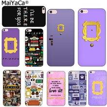 MaiYaCa suave tpu Mónica mirilla puerta marco amigos TV Show Sitcom teléfono cubierta carcasa para iPhone 6 6S Plus X 7 8 plus 5S