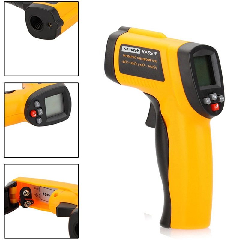 -50~550 degree Backlight LCD Display Non-Contact Digital infrared Thermometer laser Temperature Gun Outdoor thermometer