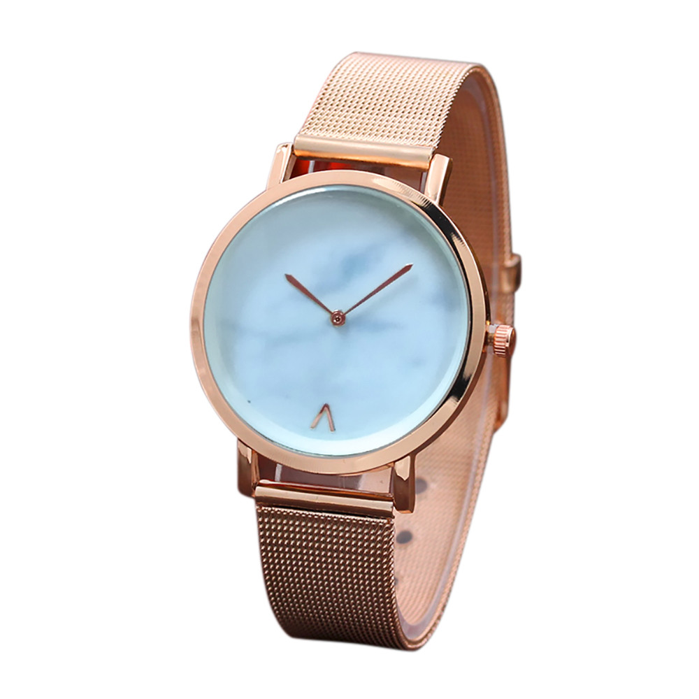 Hot 2018 New Relogio Womens Fashion Classic Gold Quartz Stainless Steel Wrist Watch Gifts Drop Shipping