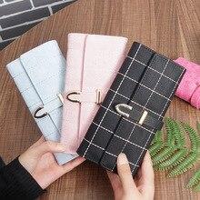 Купить с кэшбэком Fashion Luxury Brand Women Wallets Matte Leather Wallet Female Coin Purse Wallet Women Card Holder Wristlet Money Bag Small Bags