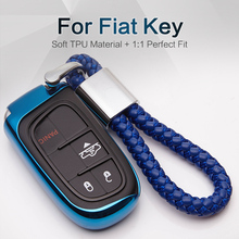 Car Styling TPU Key Fob Cover For Fiat Grande Punto Panda Ducato 500x Doblo Freemont Egea 500l Croma Key Ring Case Accessories
