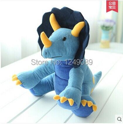Горячие продажа 35 см Вельвет ткань triceratops Динозавров плюшевые куклы мягкие игрушки животных для детей
