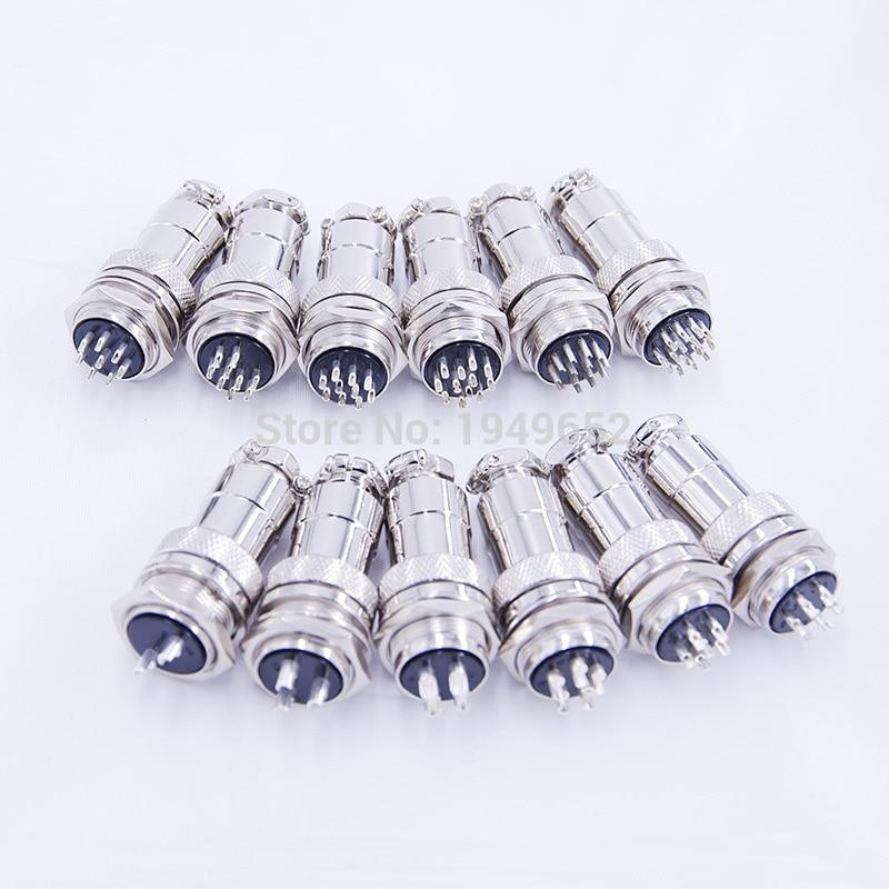 GX20 Aviation Connector Plug Male Female Metal Circular Quick Connector 2Pin 4 Pin 8pins 12 Pin 15 Pin