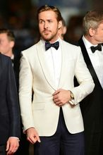 mens ivory wedding suit groom tuxeo slim fit one button for 2017 men dress custom made suit