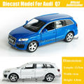 1:36 Scale Diecast Alloy Metal Car Model For Audi Q7 Collection Model Pull Back Toys Car - Blue / White / Red / Black