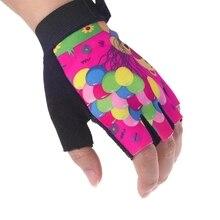 От 6 до 14 лет модные детские Нескользящие перчатки без пальцев, дышащие детские перчатки для катания на коньках и катания на коньках