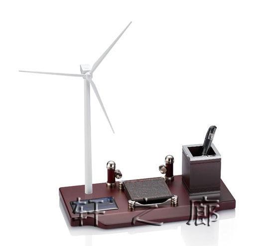 Solar wind turbine model desktop ornaments business gifts desk stationery sets Decoration