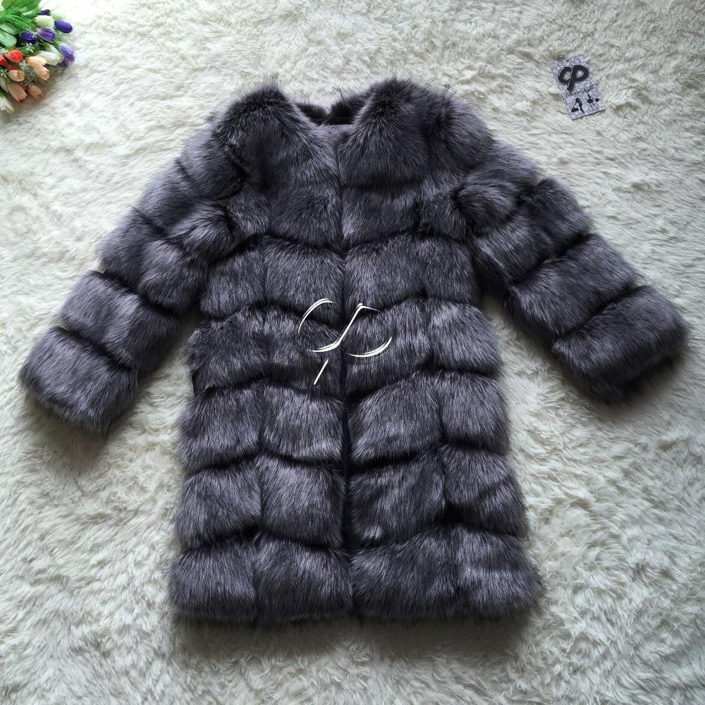 CP Brand Long Fur Coat Winter Women Faux Fox Fur Coats Shaggy Womens Fake Fur Jacket